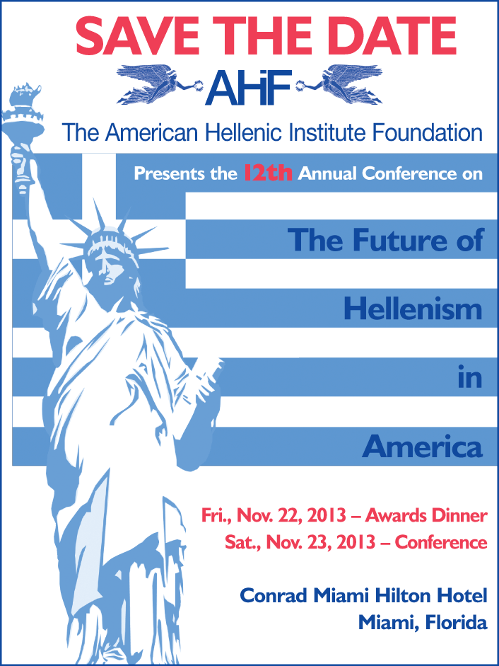 Save the Date AHIF Future of Hellenism Conference